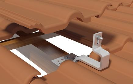 2.2 Installation Roof Hooks Roof fastening for roofing tiles Reposition the removed roofing tiles correctly.