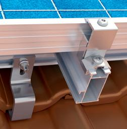 2.4 Installation PV Modules Horizontal installation On the last module in the row (if applicable, on expansion joints), end clamps and slider locks (as