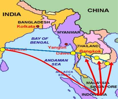 Mekong India Economic Corridor (MIEC) MIEC involves integrating the four Mekong countries (Myanmar, Thailand, Cambodia and Vietnam) with India.
