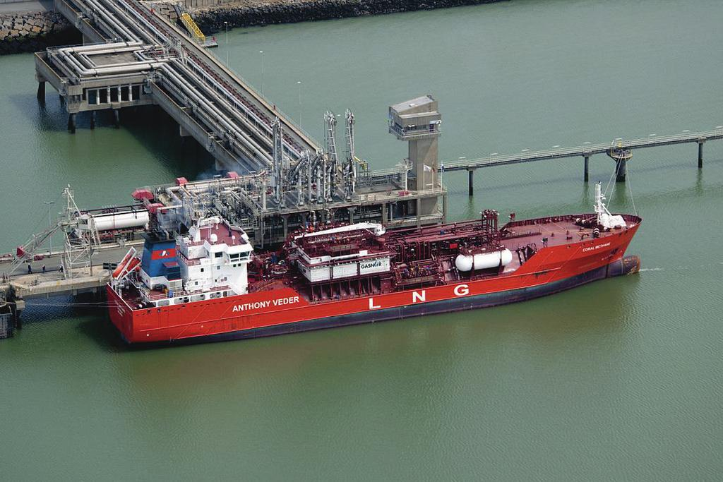 ACCOMMODATION OF SMALL SCALE LNG AS WELL Studies Loading of the Coral Methane (7,5 m³lng) at the Zeebrugge LNG terminal, May 21.
