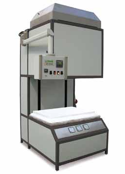 furnaces for firing, pre-sintering and sintering as well as combi-furnaces for de-binding and sintering in one process Hood furnaces also available with shuttle table systems (turntable and