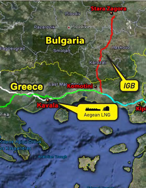 The Greece-Bulgaria Interconnector (IGB) IGB acts as a gateway to SEE through Greece, creating synergies with smaller interconnectors in the region (eg.