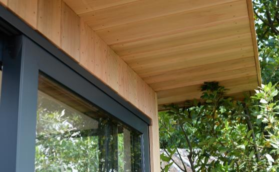 External Cladding All our models are clad in high quality Western Red Cedar, 18mm by 150mm.