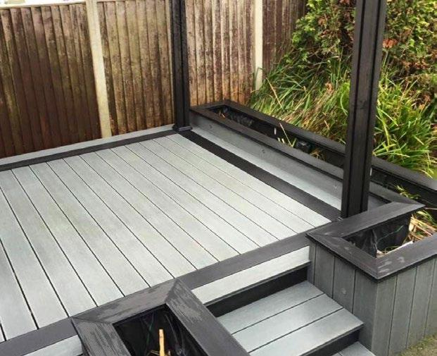 Decking Composite Wood is colour stabilised to protect it from UV rays and other fading effects. Composite Wood Company decking is perfect for gardens, patios, pool areas and holiday homes.