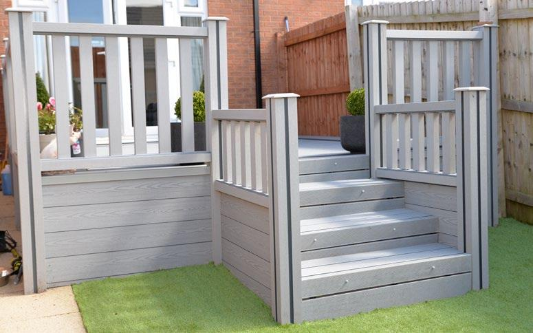 For a clear view we offer a toughened glass balustrade system that is great for caravan and holiday home decks or simply looking out to your garden. Just ask us for details.