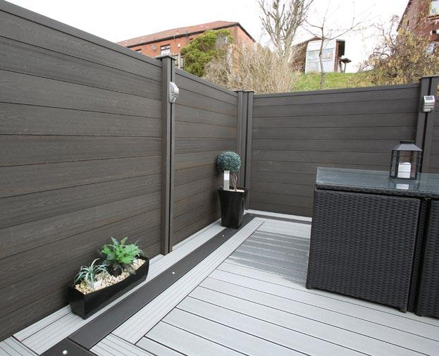 Fencing Composite Wood Company fencing is durable, water resistant and strong.