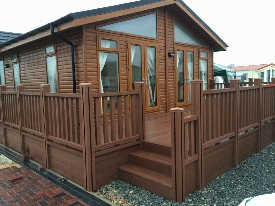 Composite Wood Company decking is slip resistant and achieves all the regulations and requirements for holiday park use.