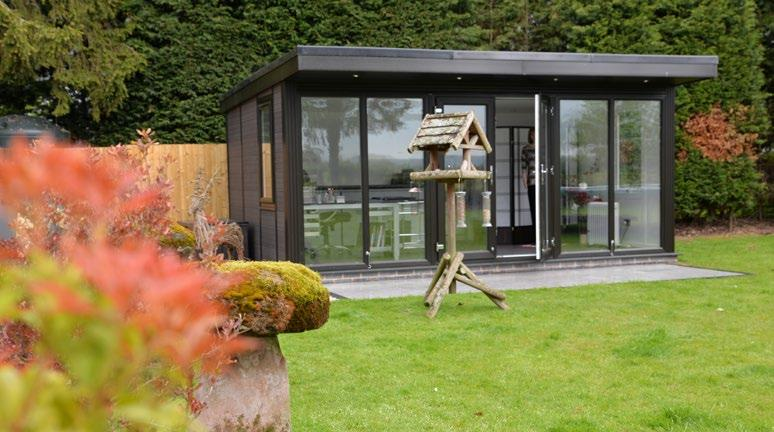 Designed as a self-contained building to use all year round, Composite Wood Garden Rooms can be ordered complete with lighting, heating and electrics.