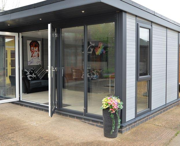 More choice with a Composite Wood Garden Room Garden Rooms from the Composite Wood Company offer a choice of 4 real wood effect colours with the look and feel of timber - without the maintenance.