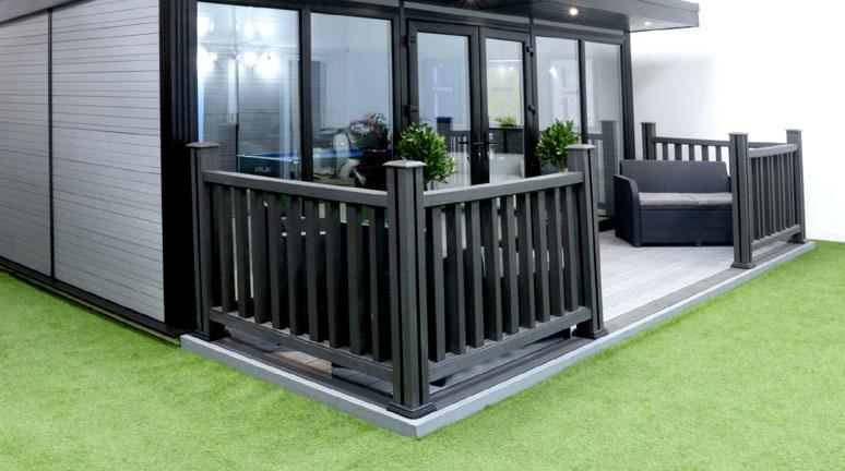 6408mm x 3316mm You can choose Composite Wood Decking to match or contrast with the colour of your Garden Room.