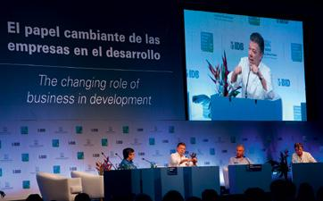Creating Forum 2013 On 28 October, Nestlé, in collaboration with the Inter-American Bank, co-hosted the fifth Creating Forum in Cartagena, Colombia, which was opened by Colombian President Juan