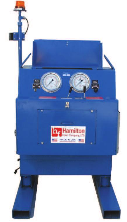 D esigned for both ease of use and quick operation, Hamilton Form s new 3500 Power Unit has a 10HP 3 phase motor and features an advanced, energy saving variable displacement pump that reduces heat