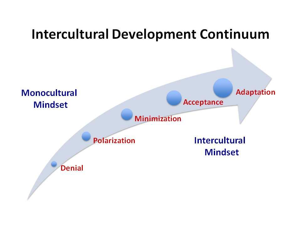 3 Intercultural Development Continuum Intercultural competence is the capability to accurately understand and adapt behavior to cultural difference and commonality.