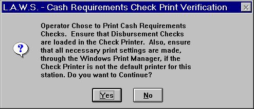 Cash Disbursements Cash Requirements Report CHECK DATE Enter the desired check date. This date must be within the current fiscal year. The default date is the current system date.