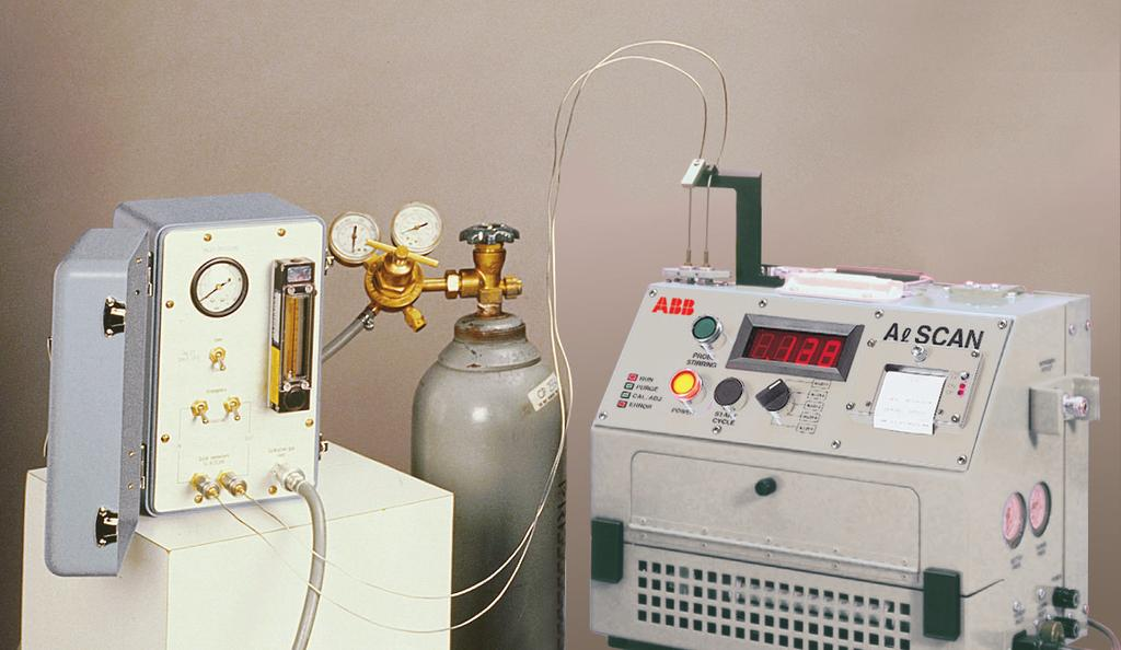 The external-supply calibration unit is connected to the external low-pressure sources of calibration gases, including argon, helium and nitrogen.