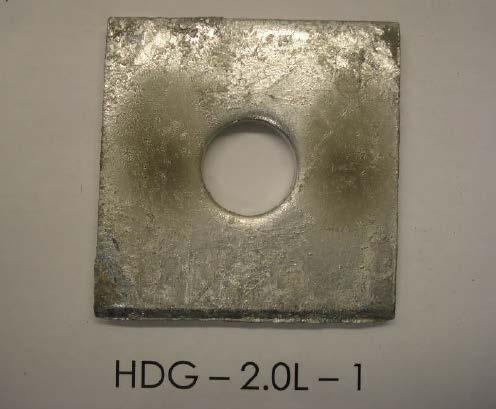 Test #1 Results: Hot dip galvanized samples abraded and exposed for 500