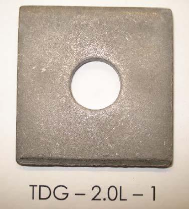 Test #2 Results: TDG samples abraded and exposed for 500 hours: The