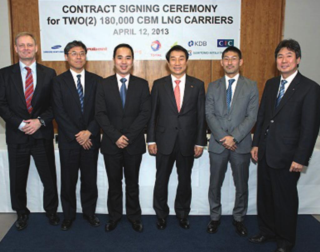 LNG Shipping News An LNG JOURNAL PUBLICATION 25 April 2013 Asian operators ready for shale gas The first long-term shale gas transportation agreement has been signed by the shipping branch of