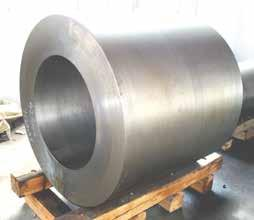 Forgings can be produced as finished size, finished size rough machined, forged size, forged size rough machined, as forged size, or as forged size with