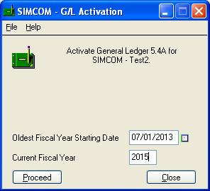 Before Converting Simply Accounting Data The Activation dialog box may require more information than the illustration above.
