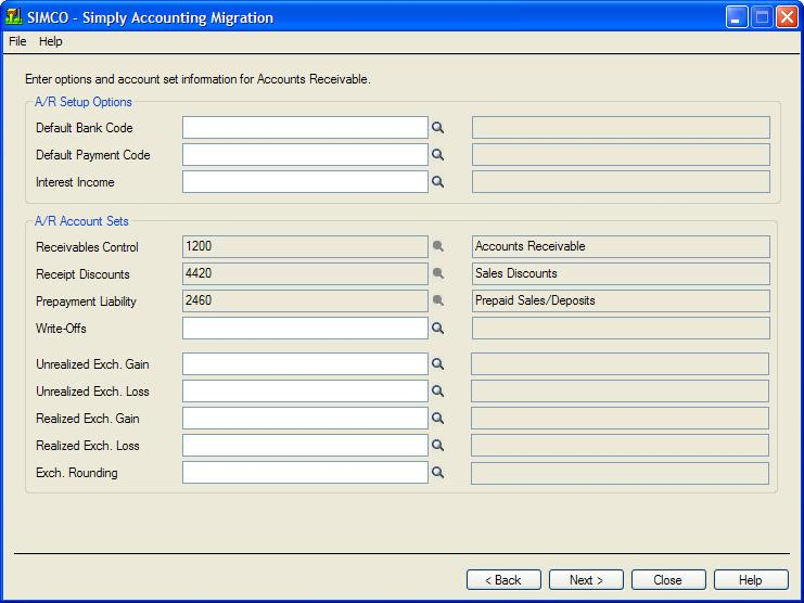 Run the Simply Accounting Migration Program 13.
