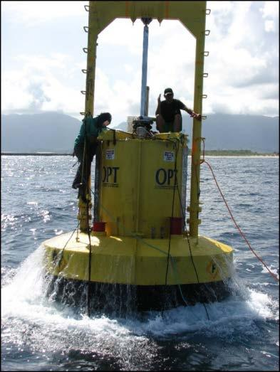 Renewable Energy Project Experience OPT Wave Energy Conversion Buoy, KMCBH Oceanlinx Wave Study, Maui Hawaii Ocean Current Energy Resource Assessment WETS Geophysical Surveys NWEI Azura Buoy
