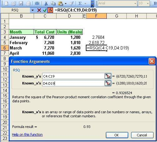 2-72 Simple Regression Using Excel Here is the estimate of R2. 1.
