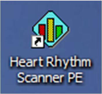 2. Start the Program The Heart Rhythm Scanner Professional Edition software is a standard standalone Windows application installed on your local PC.