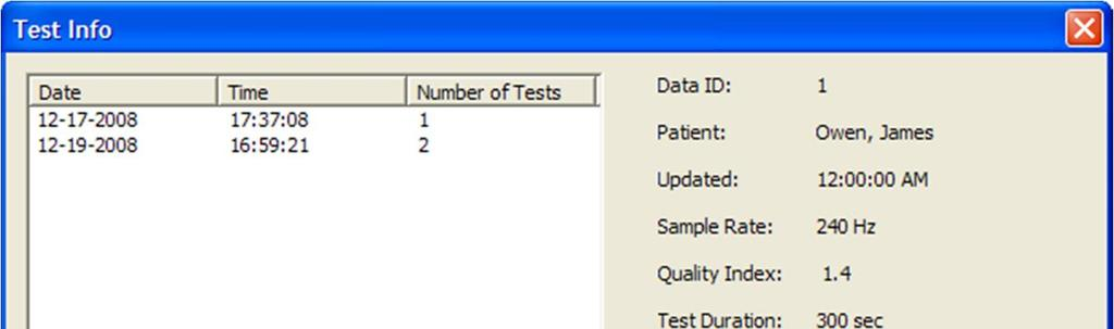 8. Manage Test Results 8.1. Edit Test Comments You may put your comments to any test and the program will store them along with test data. To enter or edit test comments do the following steps. 1.
