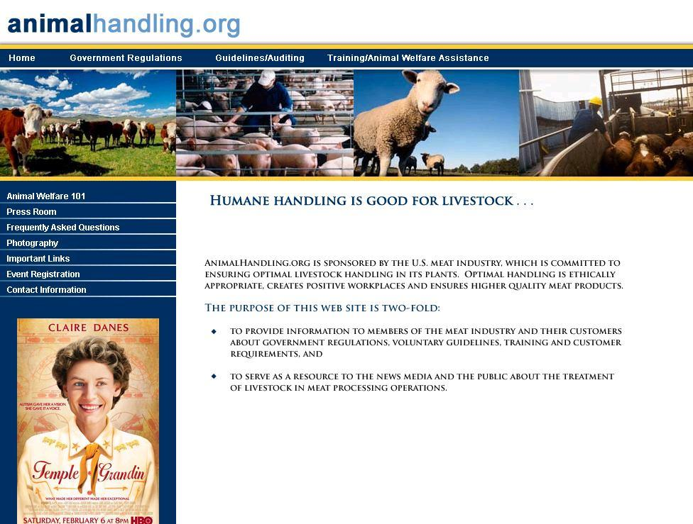 History of Voluntary Efforts, Cont. 2007 Launched www.animalhandling.
