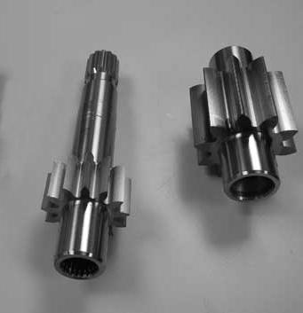 Transmission Gear shafts pump gears