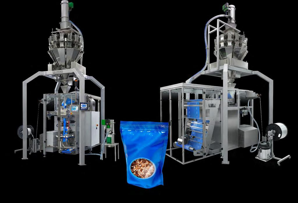 VERTICAL FORM FILL AND SEAL MACHINE WITH MULTIHEAD COMBI WEIGHER