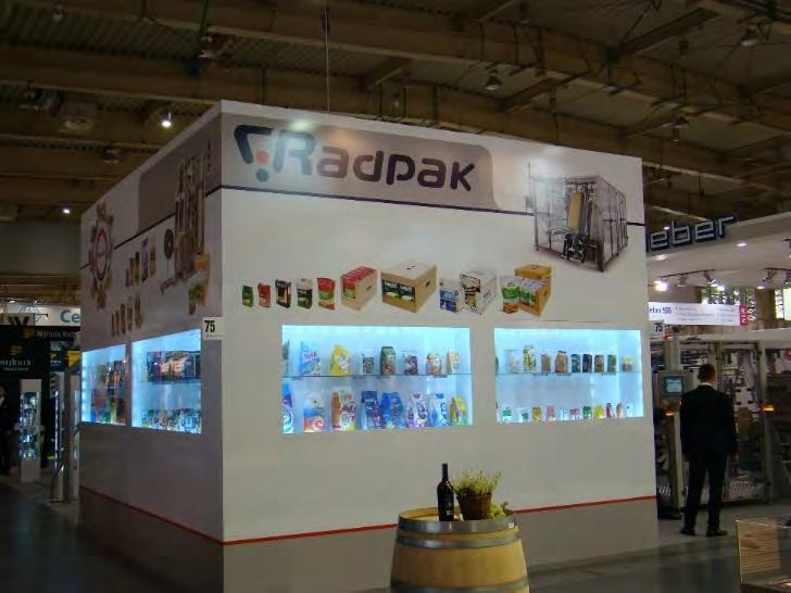 International Events SINCE RADPAK WAS FOUNDED, WE HAVE PRESENTED OUR PACKAGING EQUIPMENT IN