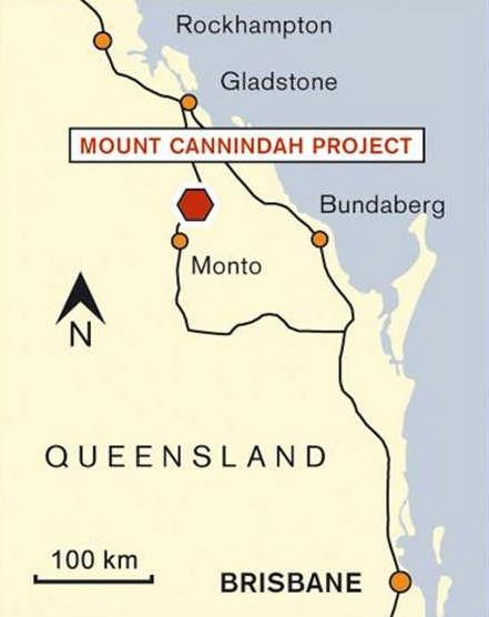 Mt Cannindah Copper-Gold % owned by PMQ Excellent