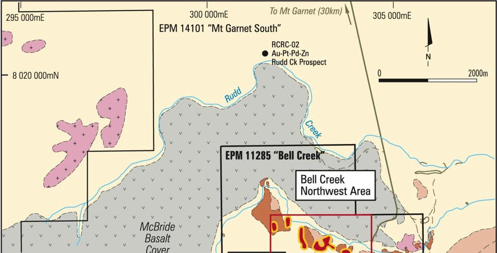 NORNICO Bell Creek Nickel Project (km south of Mount Garnet township) BC Resource Base. Mt @.