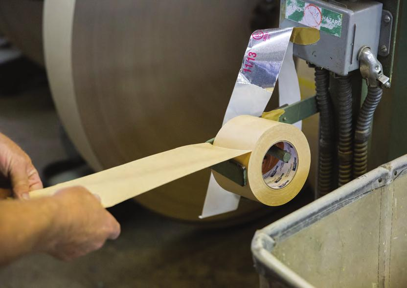 processing and anchors the end of the roll securely.
