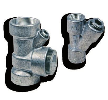 EYS Vertical sealing fittings EYS series sealing fittings prevent the passage of gas, vapours or flames through the pipe system in the electrical installation.
