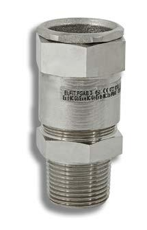 female threaded hub and in special version to host cables of lower diameter avoiding the use of reducers.