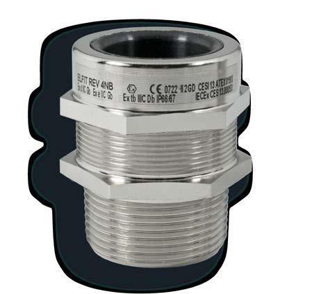 "REV series cable glands for non-armoured cable from 3/8"" to 2"" REV series cable glands are suitable for use in hazardous areas with danger of explosion to enable direct insertion of non-armored"