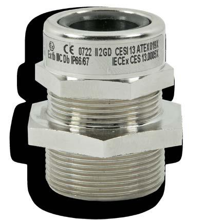 REVL series cable glands for non-armoured cable special version REVL series cable glands are suitable for use in hazardous areas with danger of explosion to enable direct insertion of non-armoured