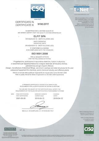 Cortem Group manufactures its products using modern processes, plants and qualified personnel. The quality management system conforms to UNI EN ISO 9001:2008 standard.