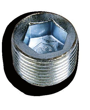 PLG male close-up plugs with conical thread PLG series plugs are used for close-up unused entries. They feature a hexagonal recessed-type head to ensure the opening with proper tools only.