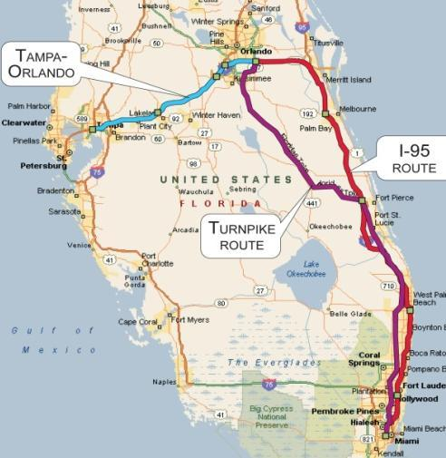 In 1992, President George Bush selected Tampa- Orlando-Miami as one of the nation s first federally designated high speed rail corridors. On January 28, 2010, President Obama announced a $1.