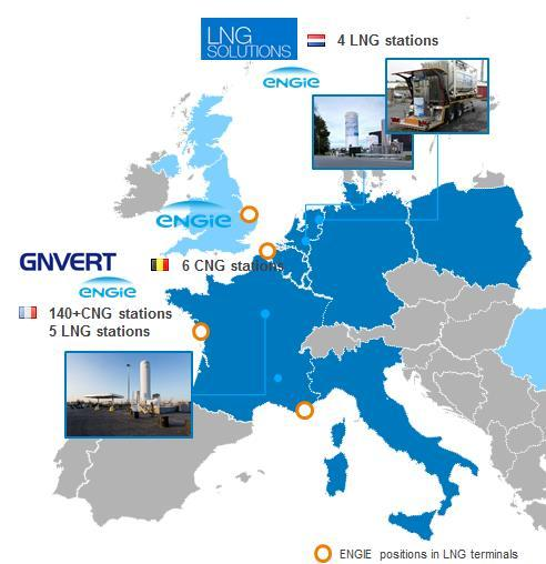 LNG Existing LNG / CNG stations vehicles Ongoing development 100 M -investment for LNG/CNG fueling stations network in Europe A 5-yr plan: 2017-2022 In Italy, plan for 10 to 15