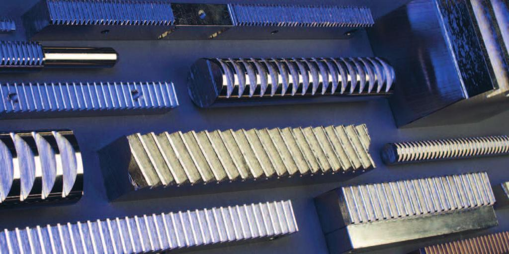 Racks We guarantee machining and manufacturing of straight and helical racks with modules M 0.