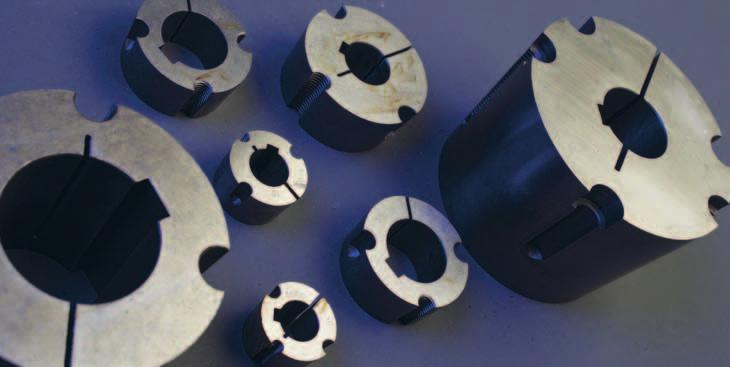 Bushes We supply taper bushes and adaptors for conical bushes, each with a wide selection of