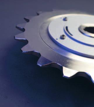 chain tensioner sprockets with bearing, hubs for taper bushes and demountable hubs. All the items can be manufactured with custom materials and heat and surface treatments.
