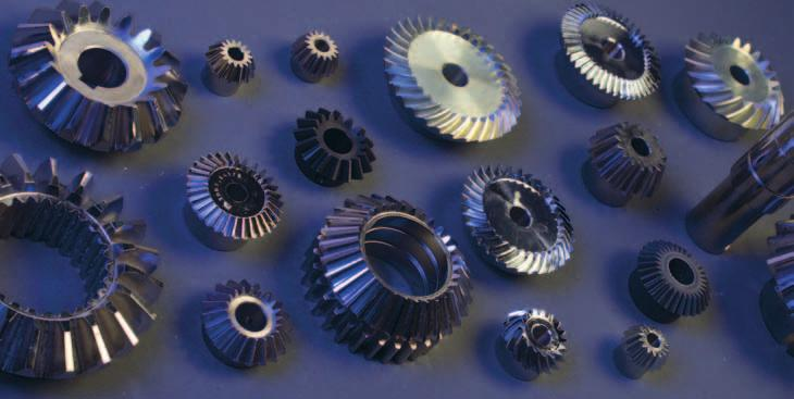 Bevel gears We supply straight and spiral bevel gears with modules ranging from M 1 to M 6 and