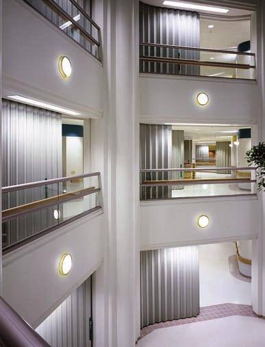 ELEVATOR ATRIUM ELEVATOR 5. Interior finishes on all walls and ceilings shall not be less than Class B. (404.7) 6. Other than the lowest level of the atrium, travel distance shall not exceed 200 feet.