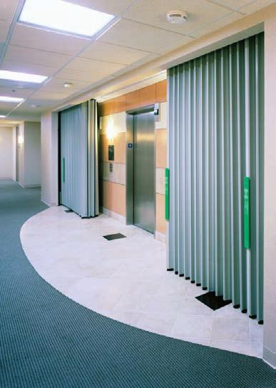 CORRIDOR ELEVATOR Design Solution Due to the unlimited width listing of the Won-Door FireGuard assemblies several elevator openings can easily be protected with one Won-Door FireGuard door.